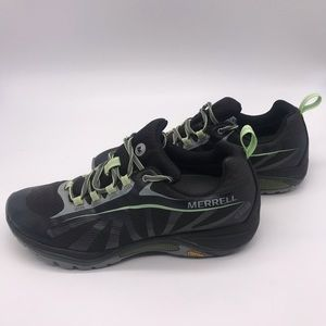 Women's 9 Merrell Siren Edge Black Hiking Shoes